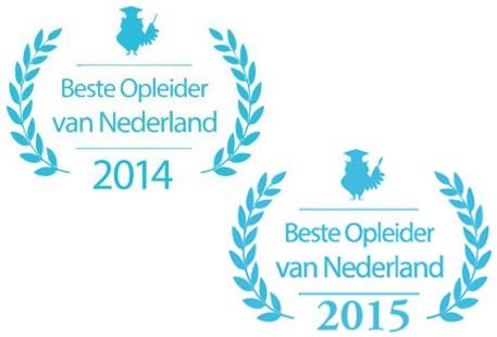 Beste Opleider van Nederland 2014 en 2015