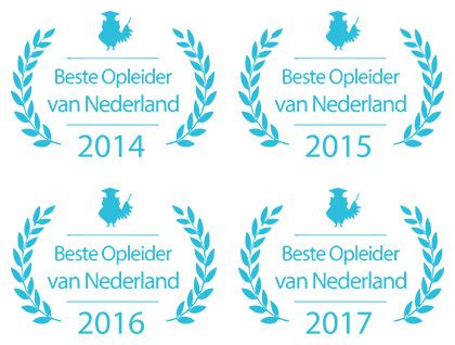 Beste Opleider van Nederland 2014, 2015, 2016 en 2017